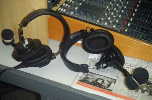 Frome FM headsets and mixing desk