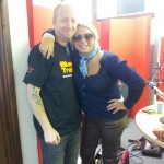 Bex Marshall and Blues Train presenter Dave Watkins