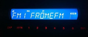 FromeFM showing on a car stereo