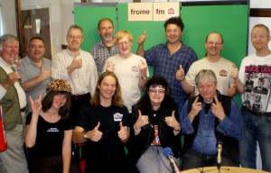Some of the FromeFM volunteers