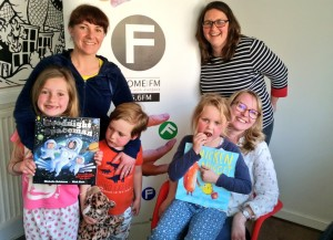 During the broadcast local author Michelle Robinson read out some of her bedtime stories for us on FromeFM and we even got acknowledge by astronaut Tim Peake!