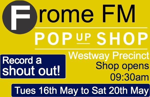 Frome FM pop up shop